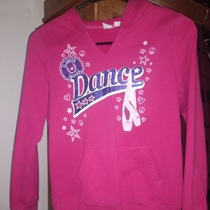 Girl's Dance hoodie, 1839 Place, size L 10/12,